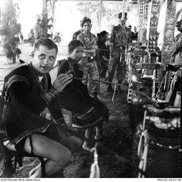Australian army captain Barry Petersen of Sarina in Vietnam