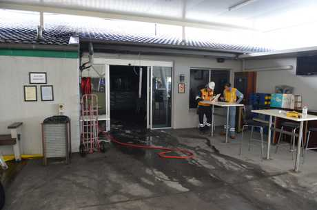 An electrical fault appears to be the cause of a fire that broke out at Mooloolaba Bowls Club, forcing dozens of evacuations from the newly-renovated club.