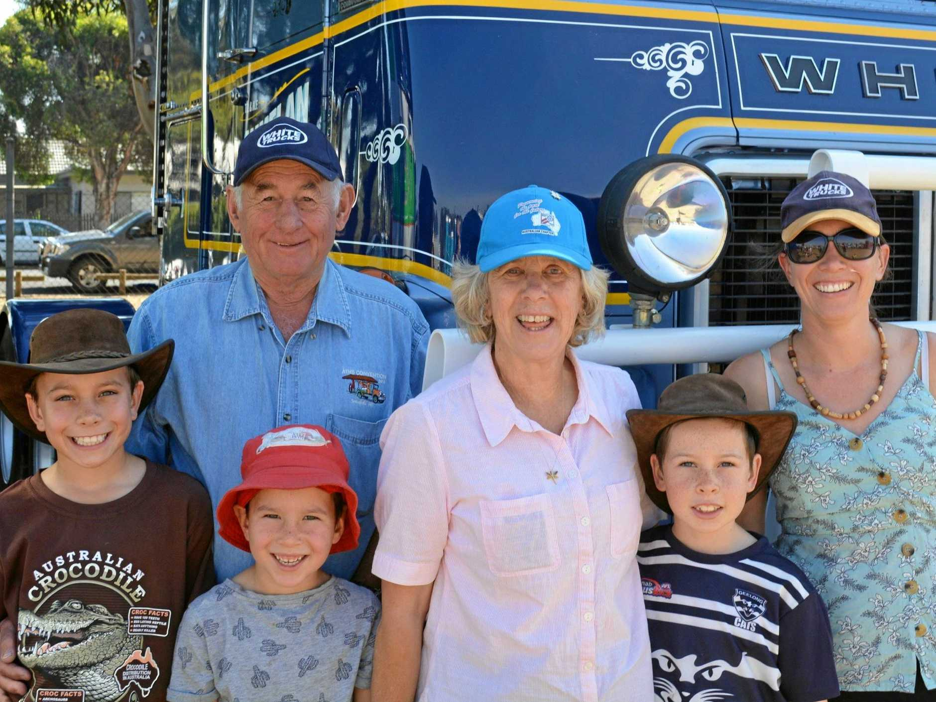 Terry and Marg Whelan with daughter Andi (right) and grandkids Tom (10), Sam (6) and James (8). Max, 3, was a bit camera shy.