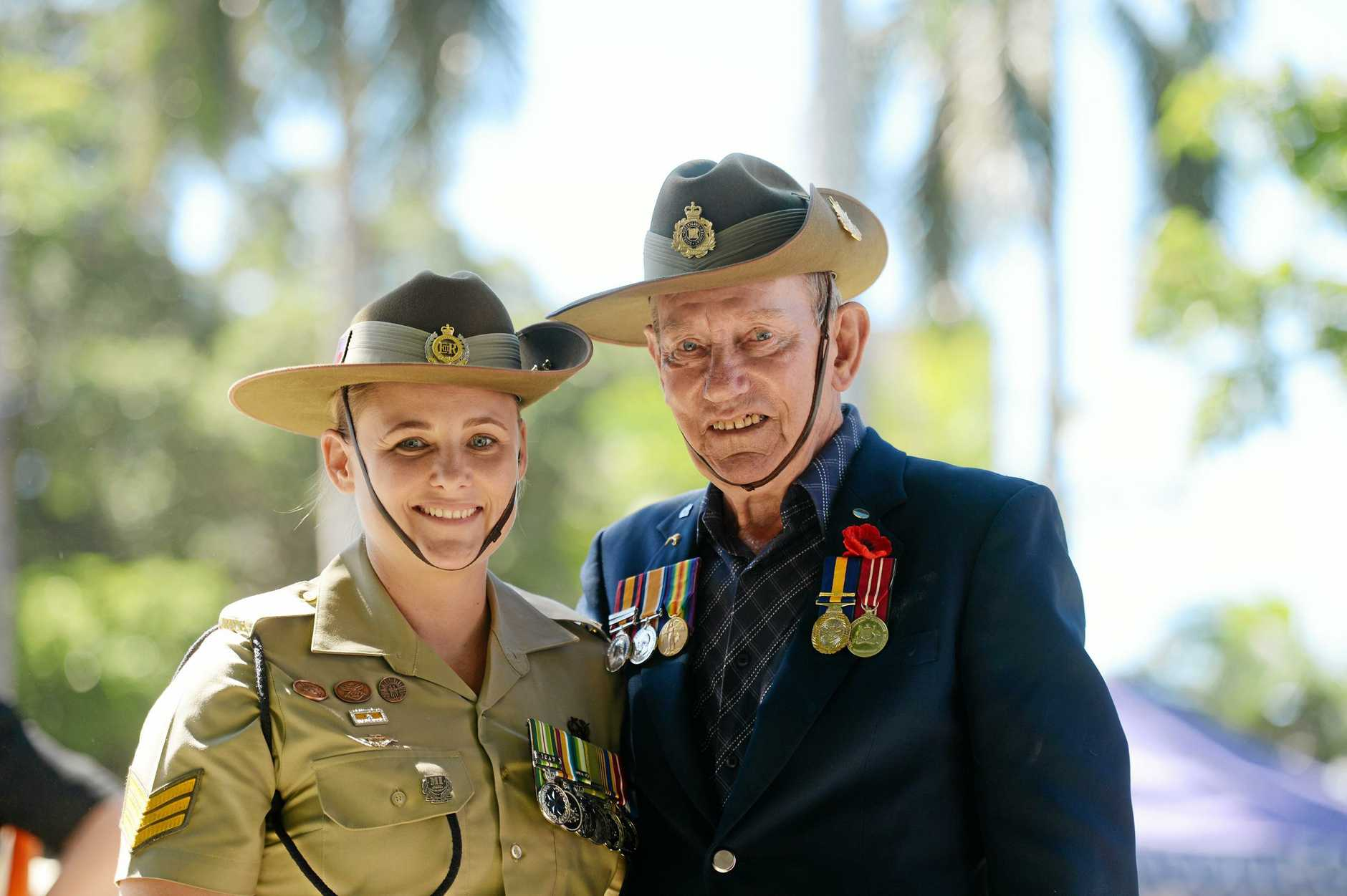 ANZAC day service at Jubilee Park, Mackay. Sgt Kelly Harding and Lt Cnl Brian Cuttriss