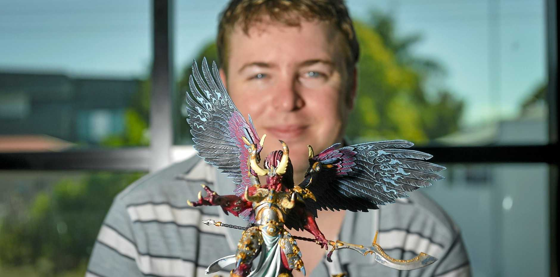 BEAST MODE: Sean Fahey is organising the second Age of Sigmar tournament to be held  May 25-26 at the Yaralla Sports Club.