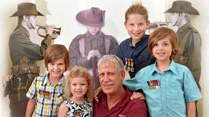 Miniature war medals let kids honour their family