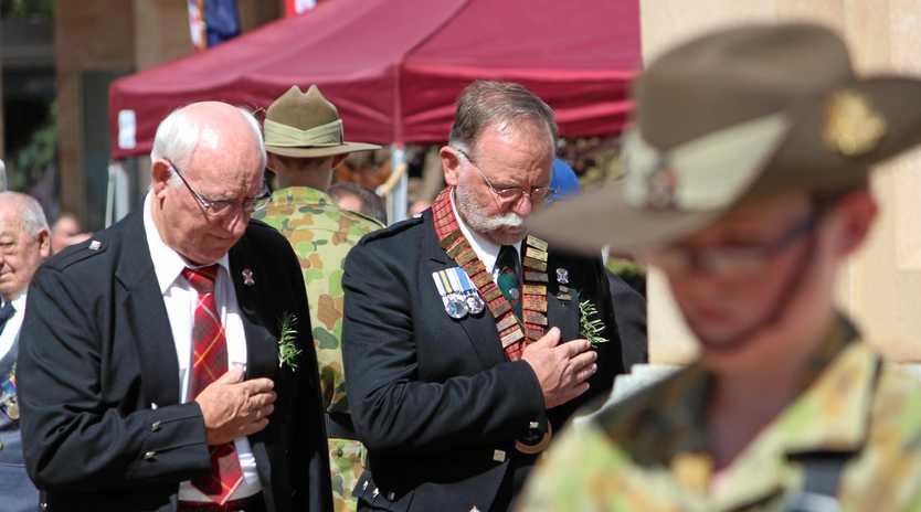 Warwick Anzac Day Memorial Service 2018.
