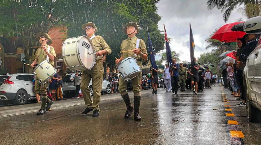 The Bureau is predicting showers for this morning's Anzac Day dawn services.