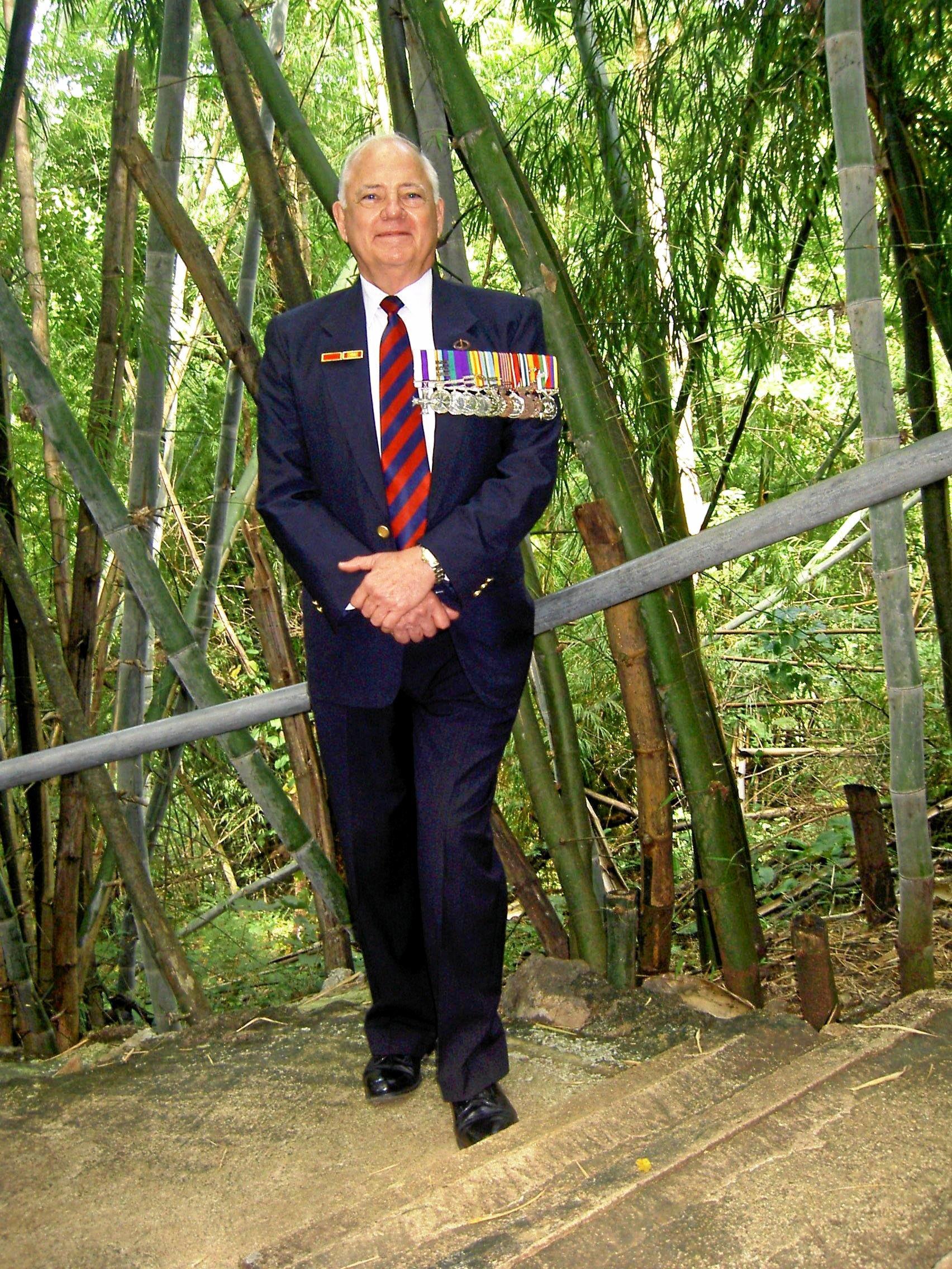Australian army captain Barry Petersen of Sarina.