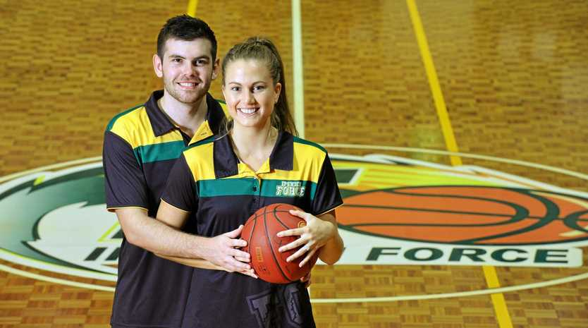 Ipswich Force basketballers Jason Ralph and Georgia Williams are getting married in June.