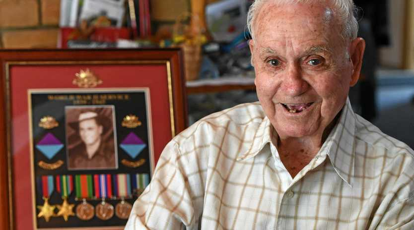 SPECIAL DAY: Second World War veteran Fred Bainbridge looks forward to today's Anzac Day services.