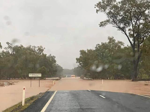 The Warrego and Carnarvon Highways are among the major roads around the region which remain flooded.