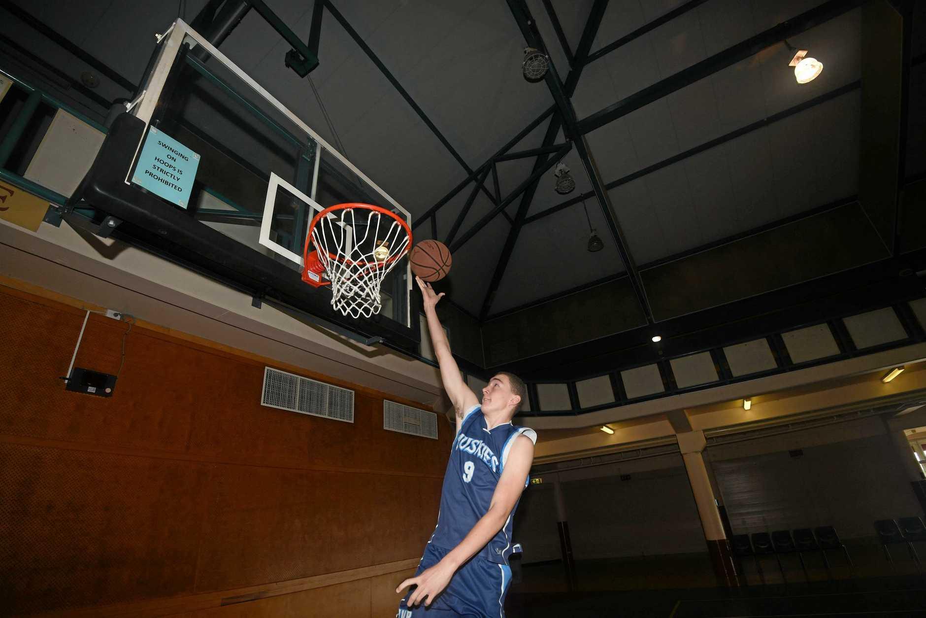 MASSIVE ACHIEVEMENT: Brandon Albrecht, 14, will travel with the Australian Boomerangs basketball tour of the USA in November, (inset) his Mum, Gympie Basketball president Jennifer.