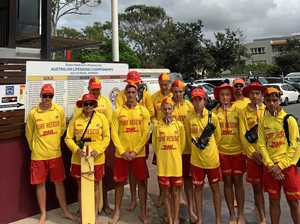 Noosa's silent mark of respect for Victorian lifesavers