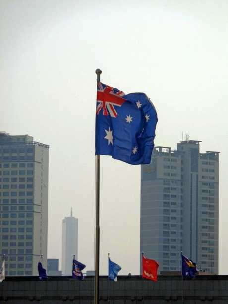 An Australian flag is flown proudly at the War Memorial of Korea in Seoul.