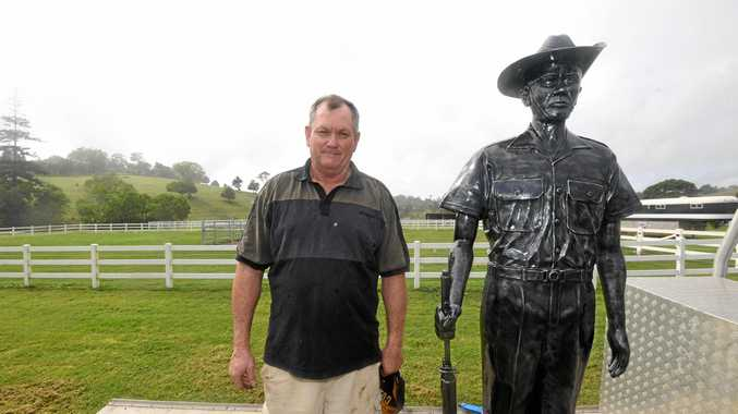 Gympie region sculptor creates lifelike Anzac soldier