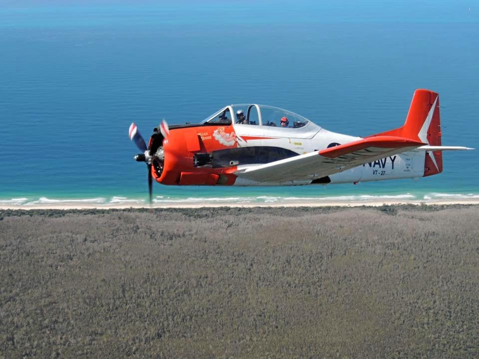 DON'T MISS: The North American T-28 Trojan will be making several fly-overs of the Gympie region today to mark Anzac Day services.