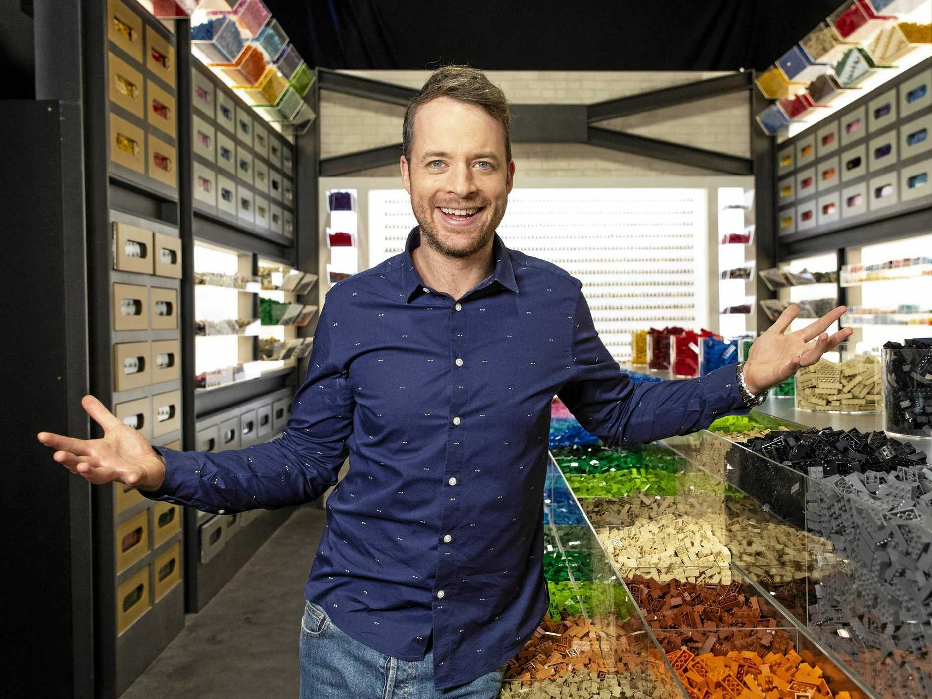Hamish Blake hosts the TV series Lego Masters.