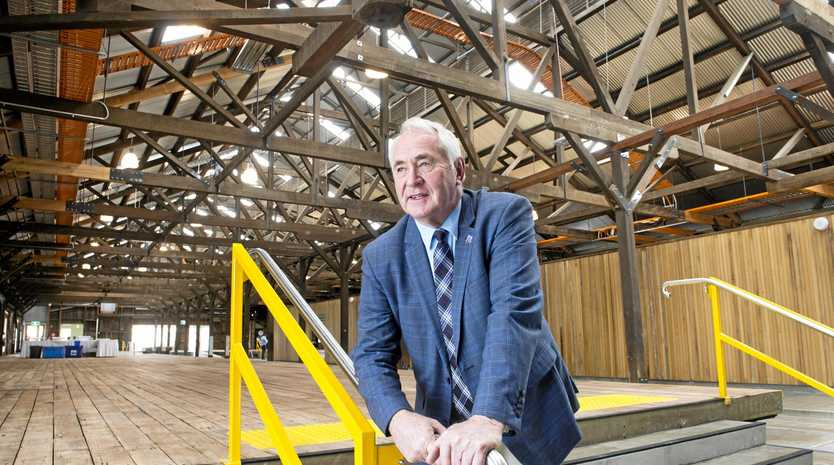 BOLD PLANS: Mayor Paul Antonio opened the refurbished Toowoomba Railways Goods Shed today. He said the space would help increase opportunity in the area.