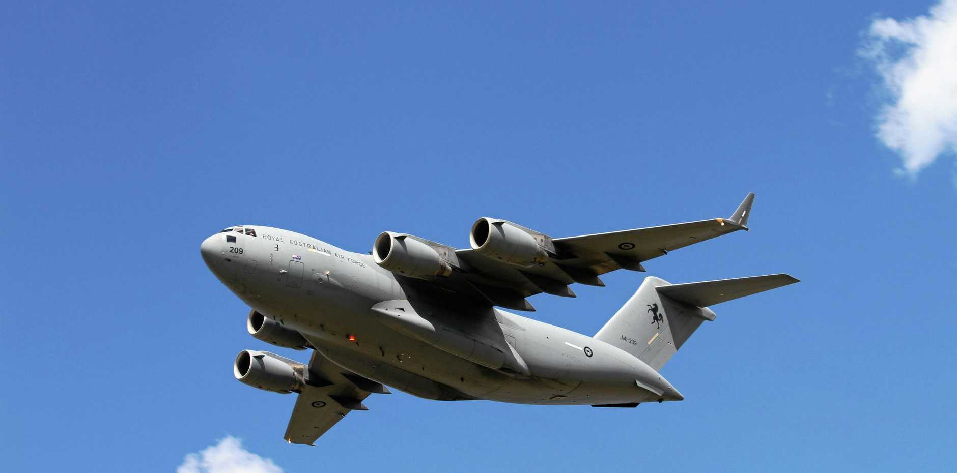 DON'T MISS: A Royal Australian Air Force C-17A Globemaster aircraft will fly over the Fraser Coast today.