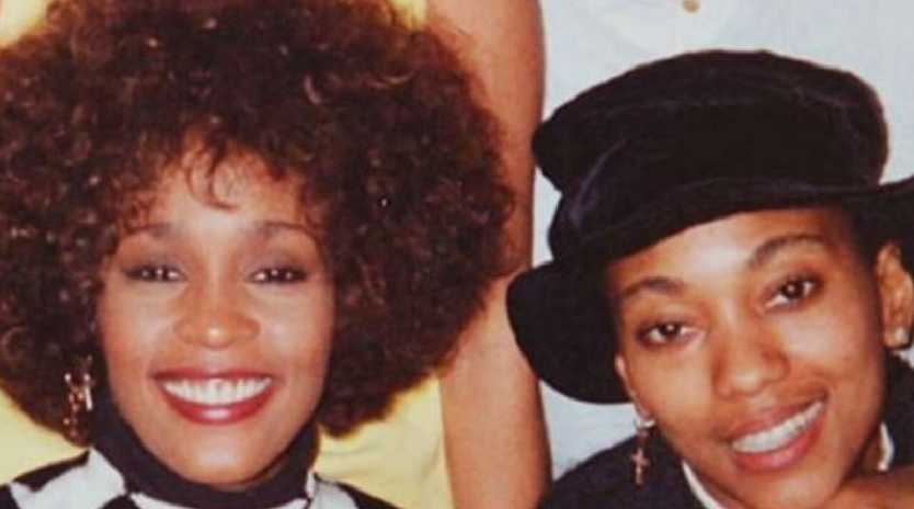 Whitney Houston and her rumoured lesbian lover Robyn Crawford. Picture: Supplied