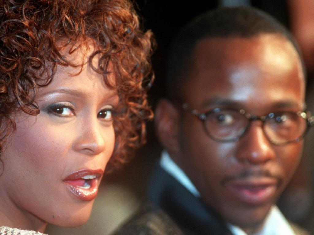 Whitney Houston and husband Bobby Brown. Picture: AP