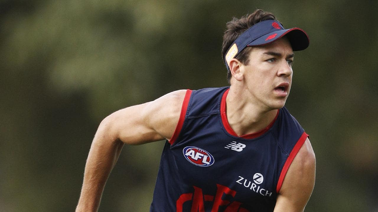 Marty Hore is a rookie on the rise after his standout return to the Melbourne side. Picture: AAP Image/Daniel Pockett.