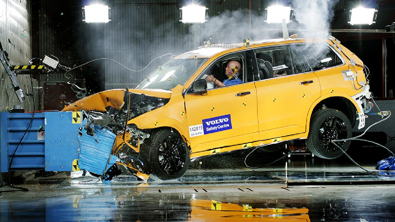 Male drivers feature predominantly in crash tests.