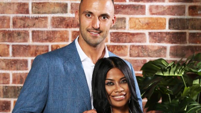 Married At First Sight couple Nic Jovanovic and Cyrell Paule. Picture: Channel 9/Nigel Wright