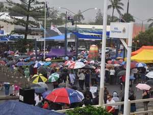 The rain didn't scare away the hundreds of people who