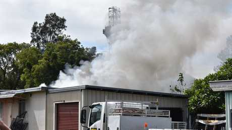 FIRE: Emergency services crews are on scene at a house fire at Dyraaba St, Casino.