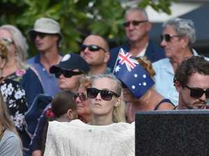 Maroochydore ANZAC Ceremony.A large crowd turned out