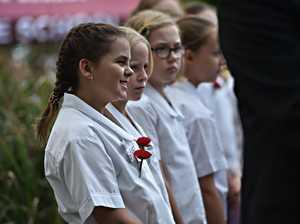 Mudjimba ANZAC Ceremony.Bli Bli State School choir