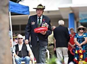 Mudjimba ANZAC Ceremony.Vietnam veteran Col 'Woody'