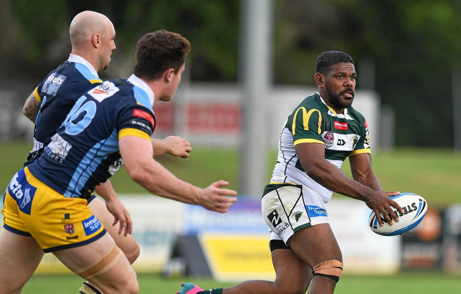 Ipswich Jets V Norths Devils Intrust Super Cup match played at North Ipswich Reserve on April 14, 2019. Kierran Moseley.