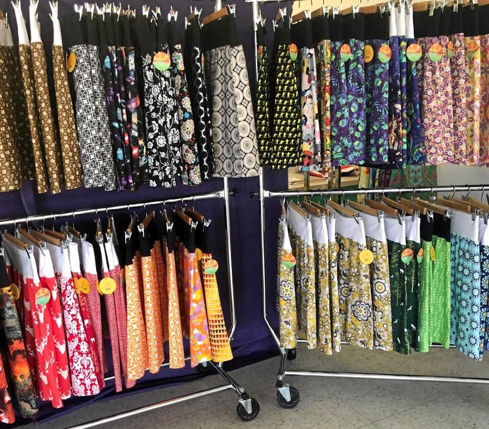 Jamtree Handmade skirts on display.