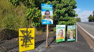 Candidate signs under fire