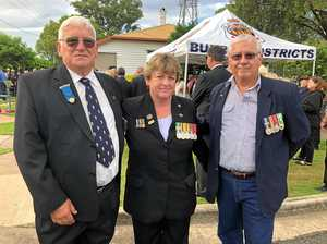 Servicemen and women gather at Howard Anzac Day service