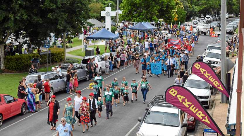 COMMEMORATION: About 500 Mary Valley residents and friends, including 100 school children, marched through Imbil to commemorate Anzac Day in the Mary Valley.