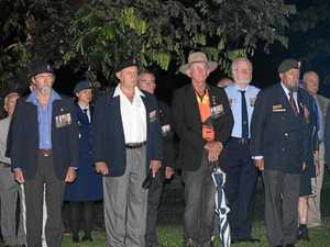 Hundreds pay their respects on Anzac Day