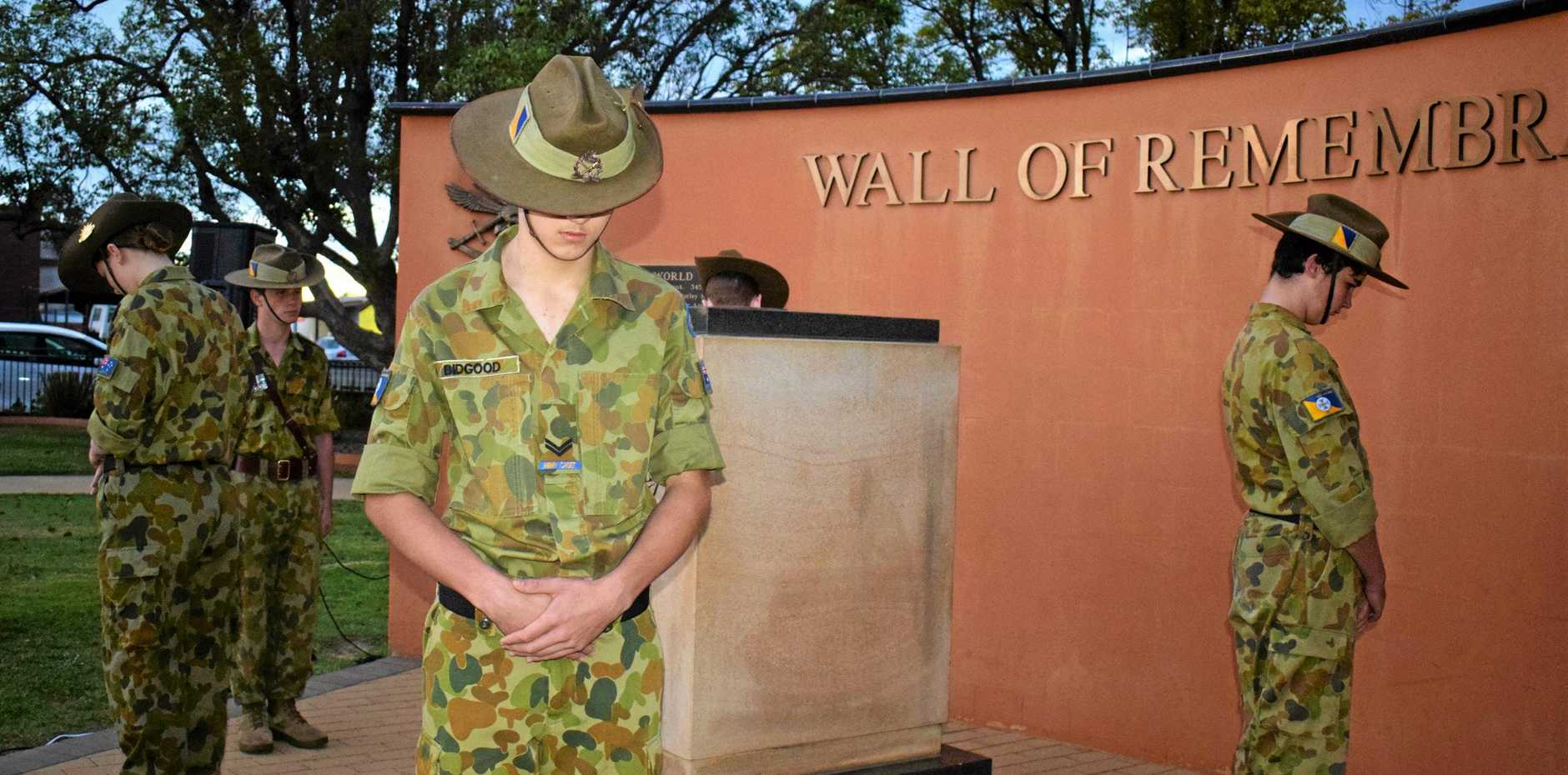 LEST WE FORGET: Miles honour the legend of the Anzacs at this year's dawn service.