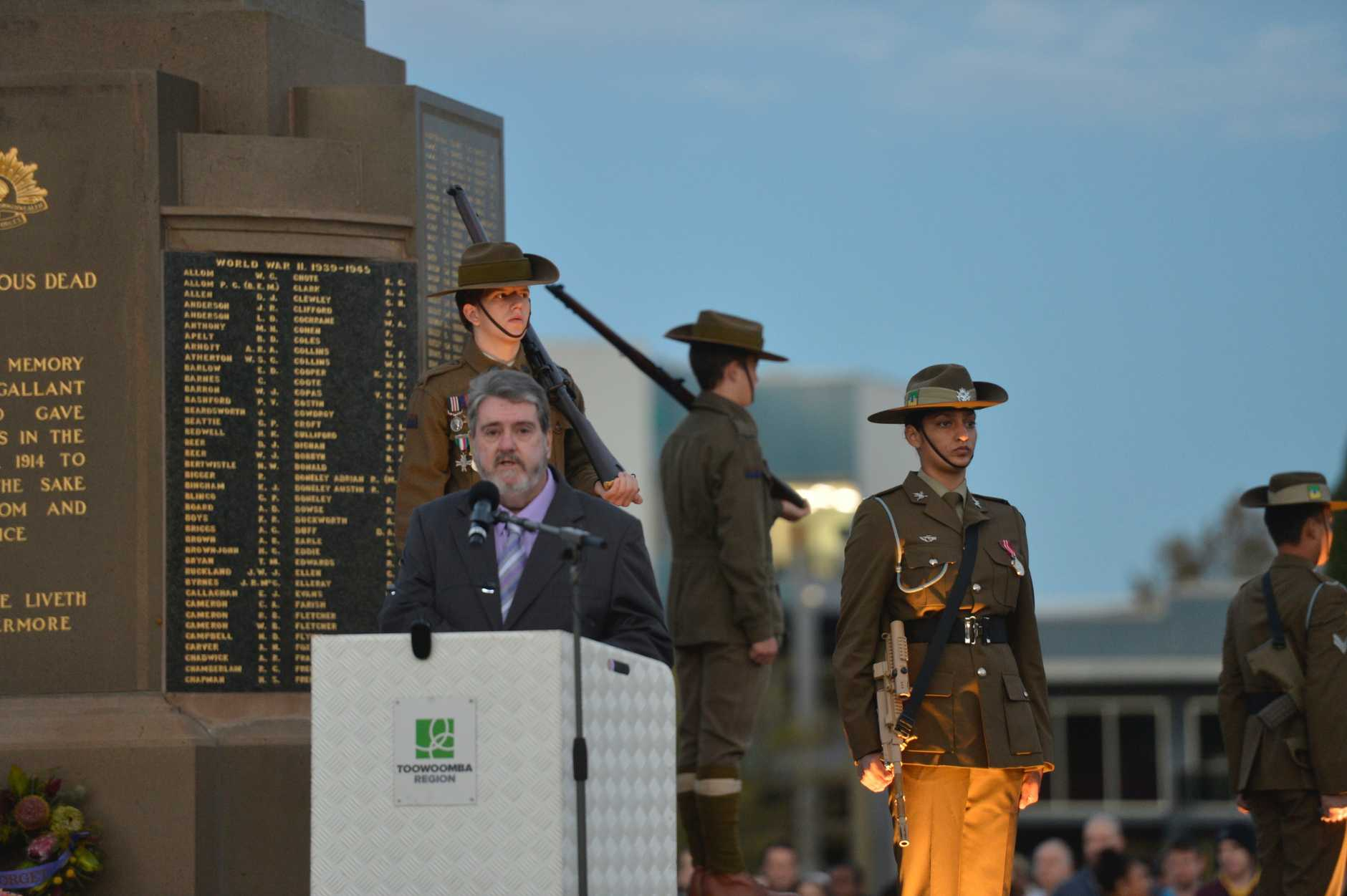 Anzac Day dawn service at Mothers' Memorial 2019.