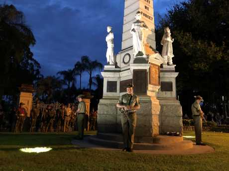 Maryborough's 2019 Anzac Day dawn service.