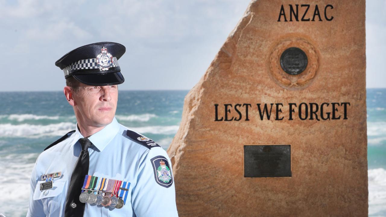 Afghanistan veteran and Gold Coast police officer Jason Tuffley.Picture Glenn Hampson