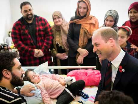 Before arriving in Christchurch, William met five-year-old Alen Alsati at Starship Children's Hospital in Auckland. Picture: Kensington Palace