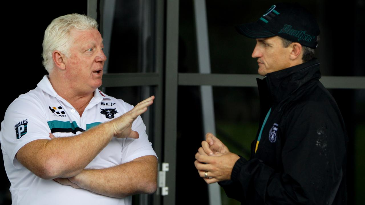 Phil Gould and Ivan Cleary deny there is bad blood between them.