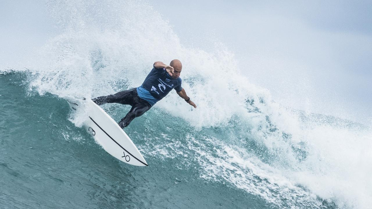 Eleven-time world champion Kelly Slater in action at Bells Beach. Picture: Kelly Cestari/WSL via Getty Images
