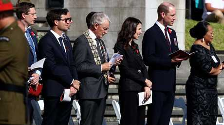 Prince William with Prime Minister Jacinda Ardern. Picture: Getty