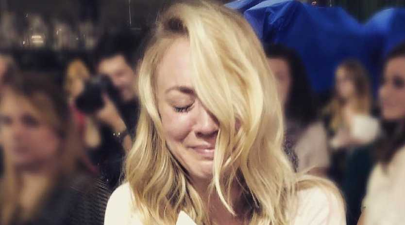 Kaley Cuoco is an emotional mess over the Big Bang Theory finale.