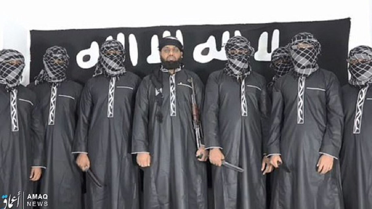 The Islamic State released an image of the suspected Sri Lanka suicide bombers although it is not clear which is Abdul Lathief Jameel Mohamed, who studied in Australia.