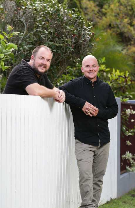 Adam James and Michael Seabrook, from CFA Liberty Enterprises, who dedicate their time to turning around the fortunes of juvenile crims. Photo: AAP Image/Claudia Baxter.