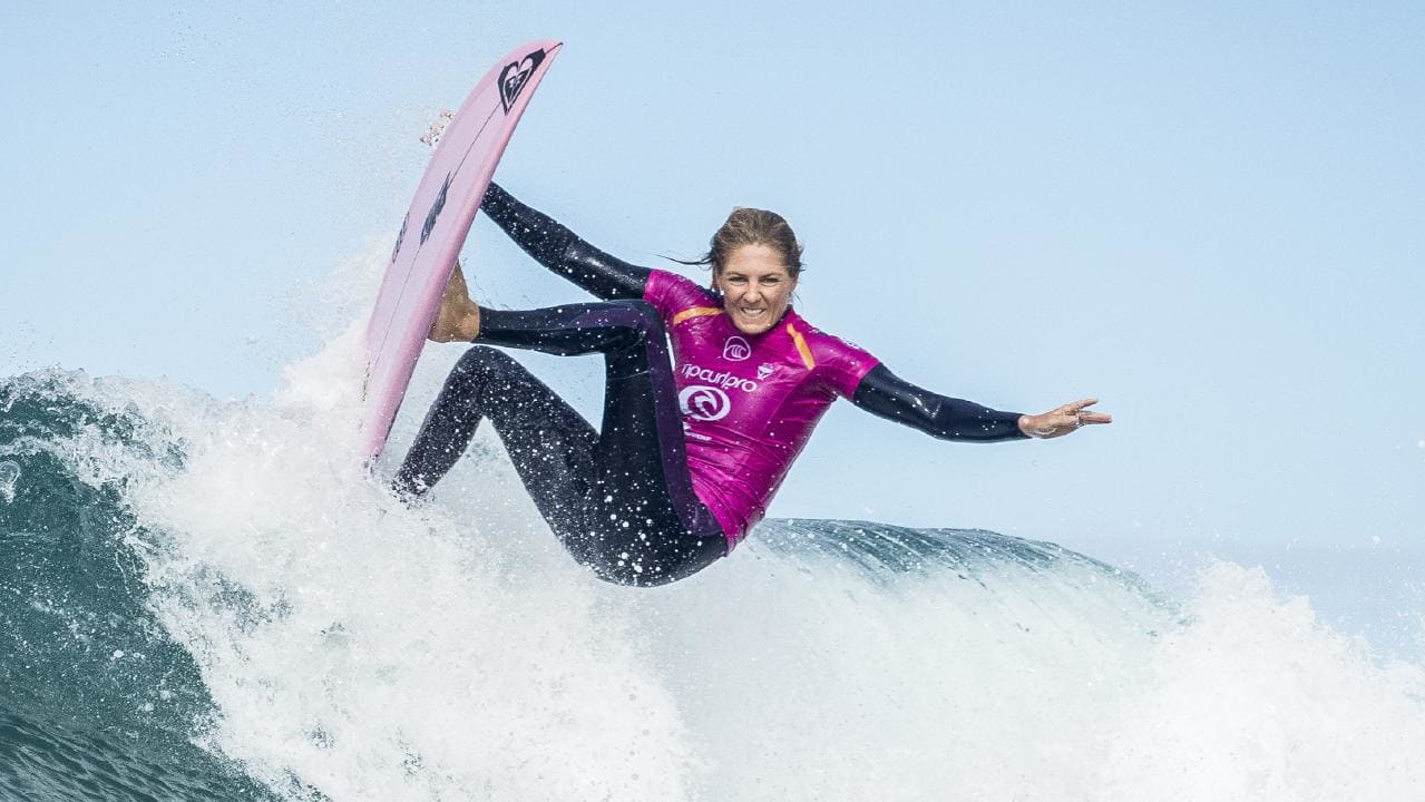 Stephanie Gilmore is looking good early at Bells Beach. Picture: Kelly Cestari/Getty Images