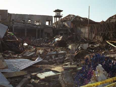 The back of the Sari Club after the bomb.