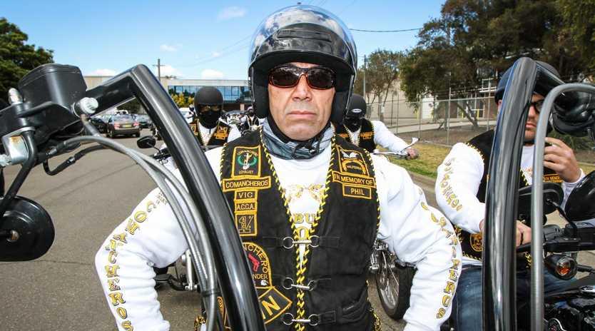 Former Commanchero bikie chief Amad Malkoun was almost killed in a car bomb.